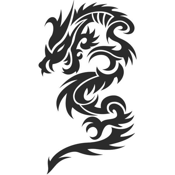 Dragon Car Sticker Tribal Style