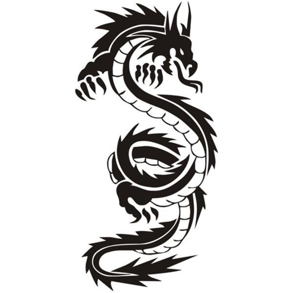 Dragon Car Sticker Design japanese