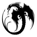 Dragon Sticker Wall Art 30cm