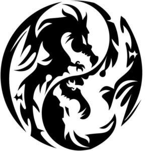 Dragon Sticker Tao 14cm