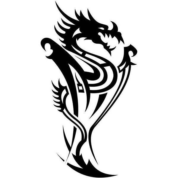 Dragon Sticker Fantastic Design