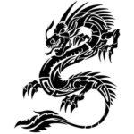 Dragon Sticker Japan Inspired Black