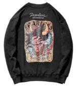 Dragon Sweater Fearless Black Cotton