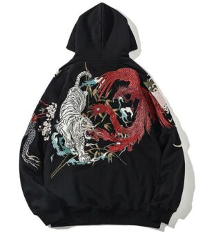 Dragon Hoodie Celestial Animals Soft Cotton