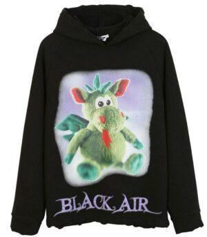 Dragon Hoodie Black Air Cotton Polyester