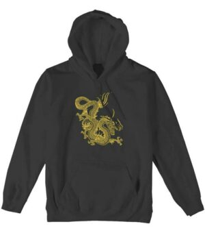 Dragon Hoodie Golden China Culture