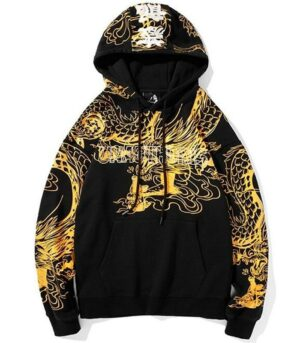 Dragon Hoodie Chinese Style Cotton