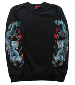 Dragon Sweater Chinese Streetwear Outfit Art