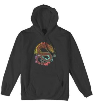 Dragon Hoodie Colored Chinese Outfit Cotton