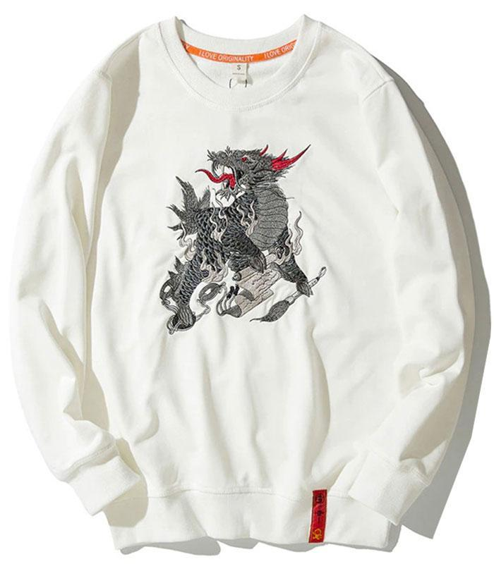 Dragon Hoodie Thunder Streetwear Cotton