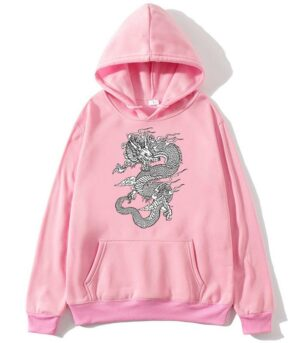 Dragon Hoodie Female Cotton Bio