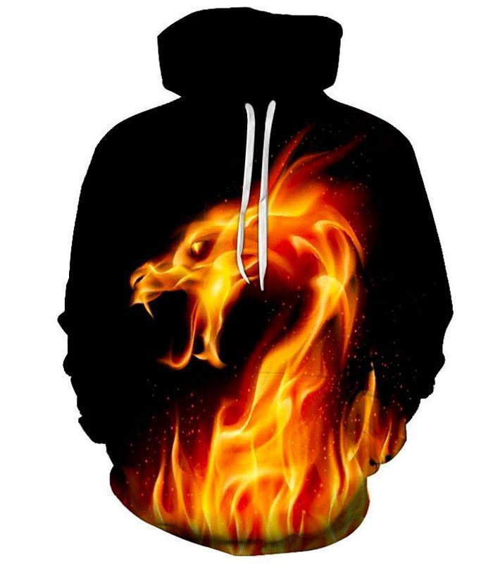 Sweat dragon flamme