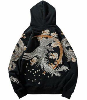 Dragon Hoodie Phoenix Japanese Art