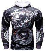 Men Sports Dragon Hoodie Agressive Style