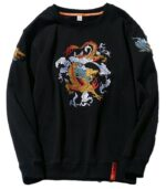 Dragon Sweater Embroidered Outfit Japanese