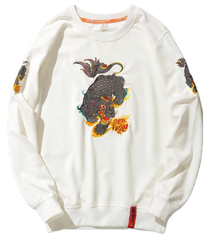 Dragon Hoodie Qilin Cotton Streetwear
