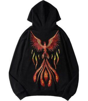 Dragon Hoodie Bird of Fire Cotton