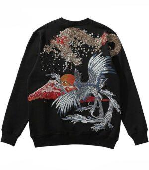 Dragon Hoodie Vermilion Bird Cotton