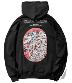 Dragon Hoodie Yin Yang Cotton Soft