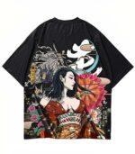 Dragon Tshirt Akuma Polyester Cotton Biological