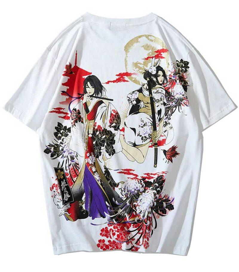 Dragon T-Shirt Ukiyo-e art Cotton Streetwear