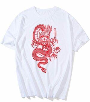 Dragon Tshirt Red Japanese Art