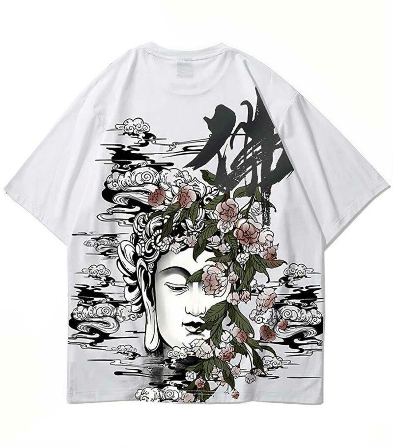 Dragon Tshirt Buddha Cotton Streetwear