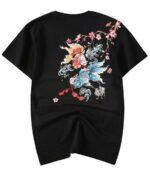 Dragon Tshirt Japanese Carp Cotton