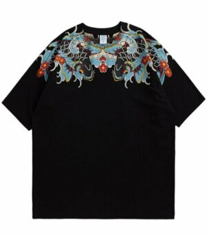 Dragon Tshirt Colored Koi Carp Design