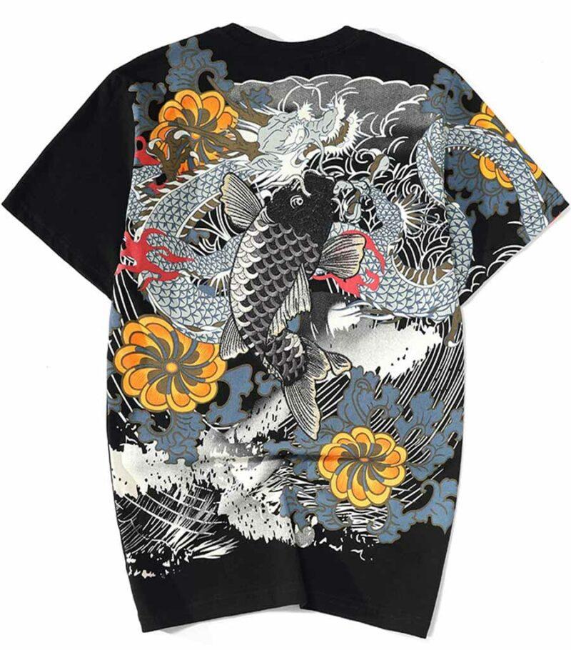 Dragon Tshirt Koi Carp Organic Cotton