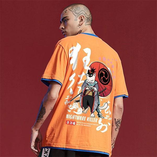 T-Shirt Chat Samourai