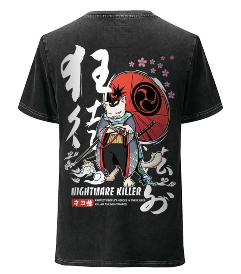 Dragon Tshirt Samurai Cat