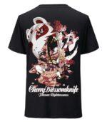 Dragon Tshirt Cherry Blossom Cotton Streetwear