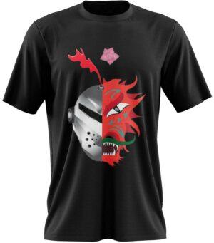Dragon Tshirt White Red Knight