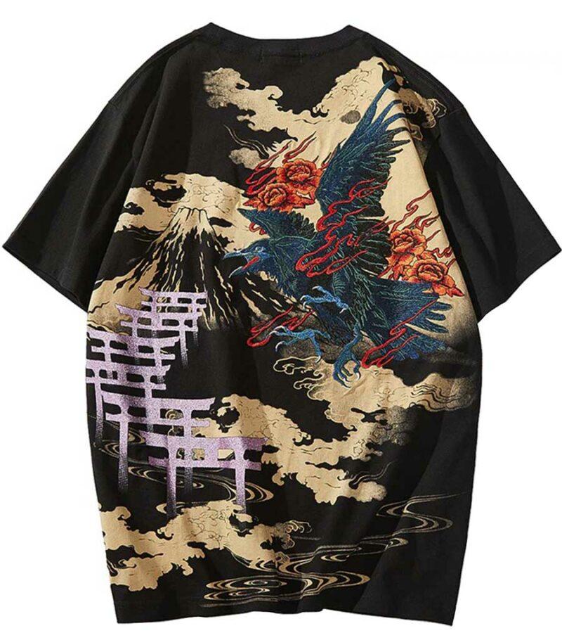 Dragon Tshirt Crow Streetwear Japanese