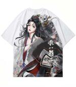 Dragon Tshirt Geisha Woman Polyester Cotton