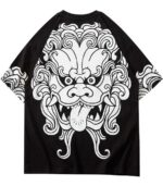 Dragon Tshirt Lion Dance Streetwear Oriental