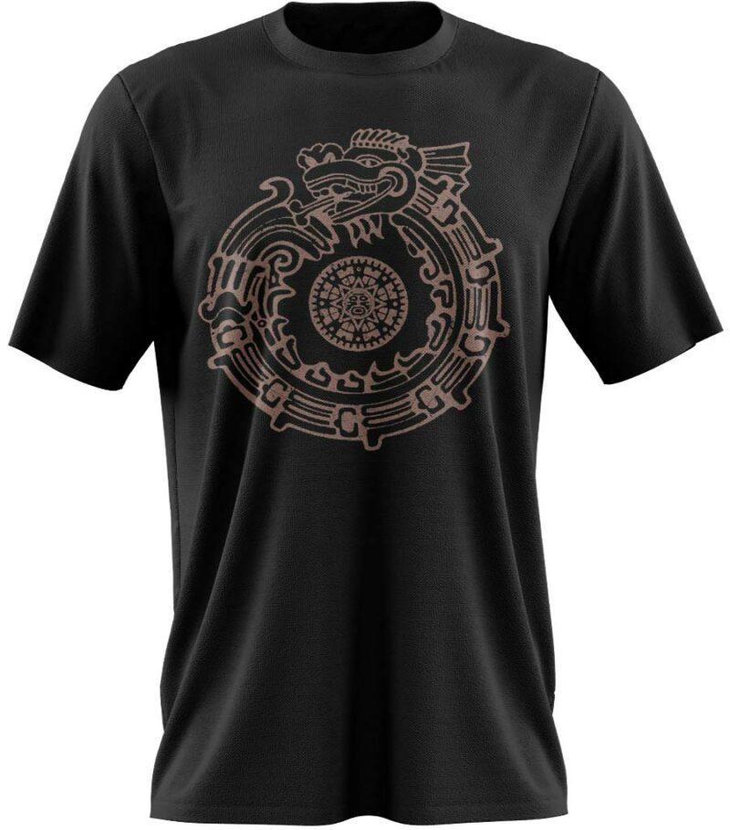 T-shirt dragon aztèque
