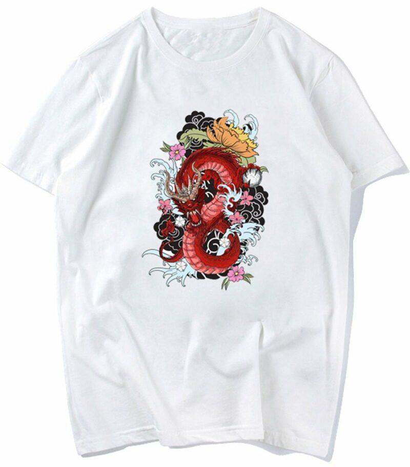 Dragon Tshirt Chinese Woman Cotton Polyester
