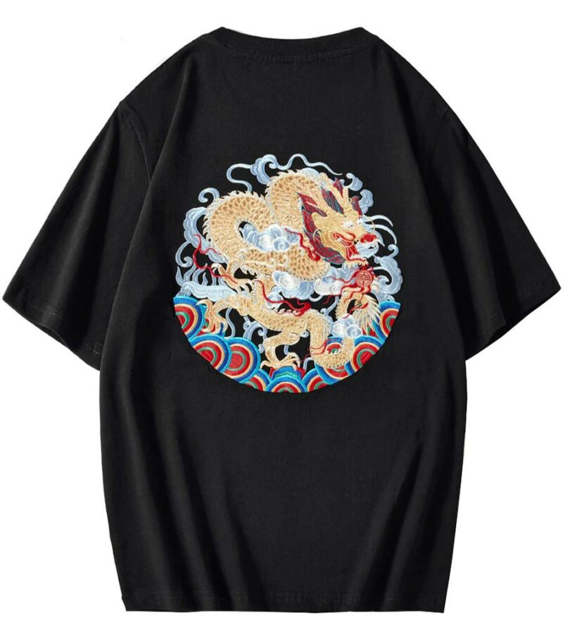 Dragon Tshirt Chinese Harajuku Style Art