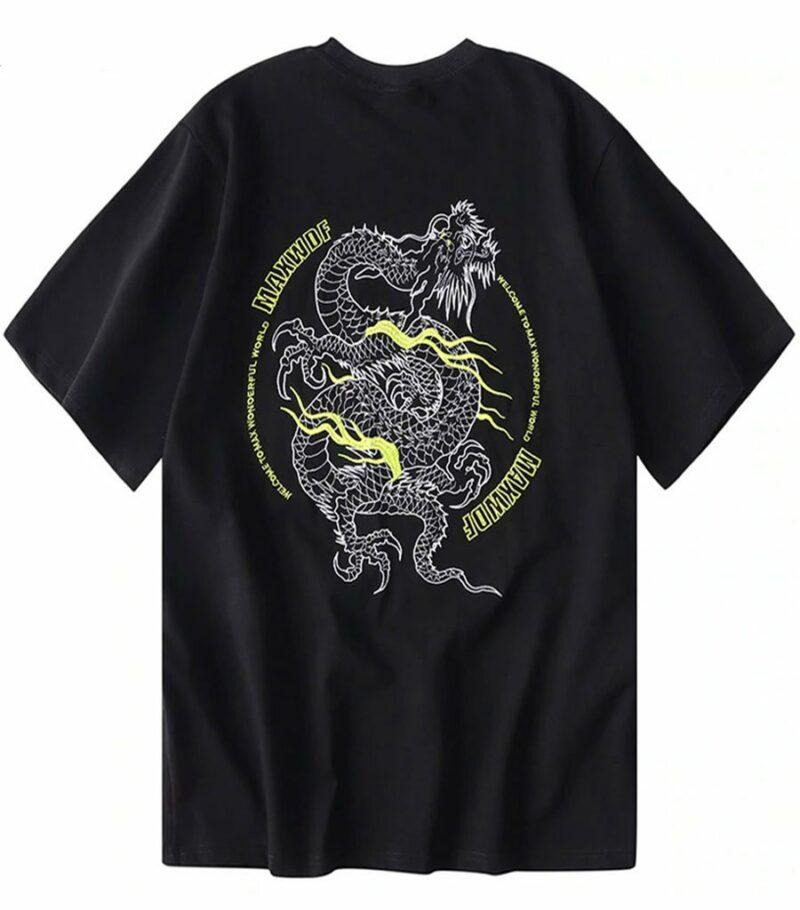 Dragon Tshirt Chinese Man Style Organic Cotton