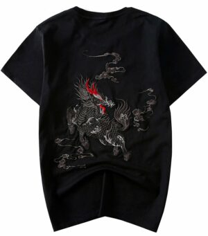 Dragon Tshirt Qilin Organic Cotton