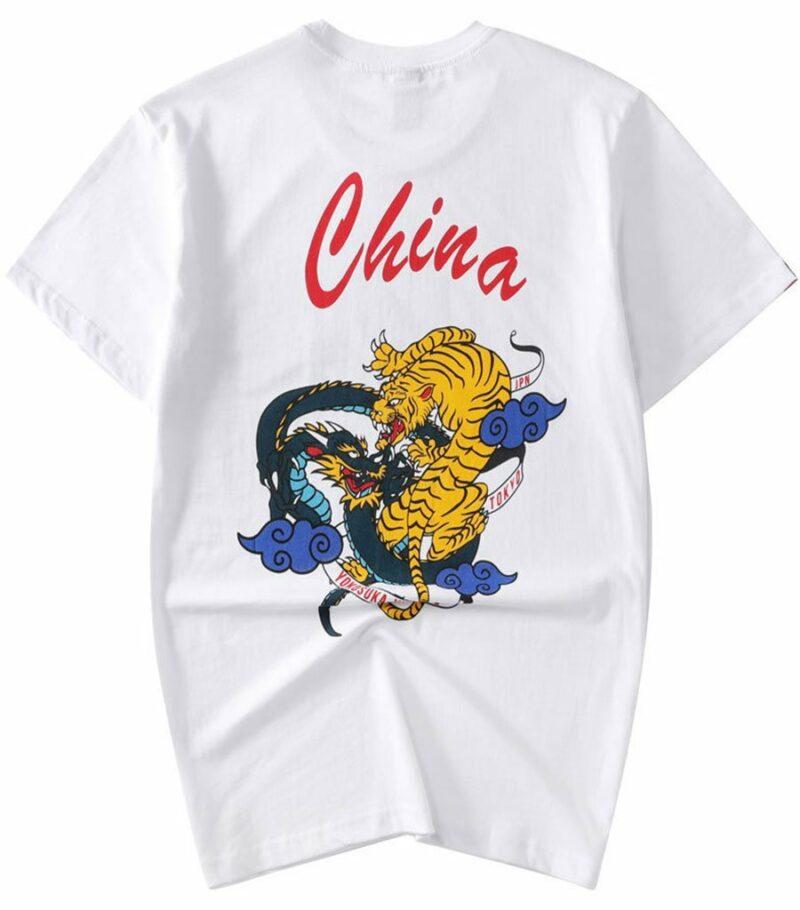Dragon Tshirt Chinese Tiger Organic Cotton