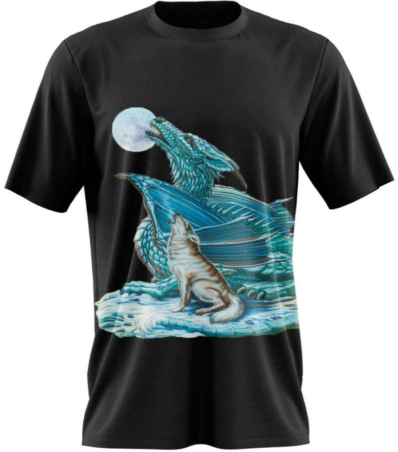t-shirt dragon de glace