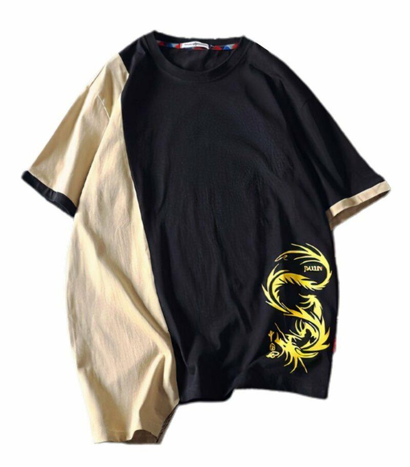 Dragon Tshirt Double Face Streetwear