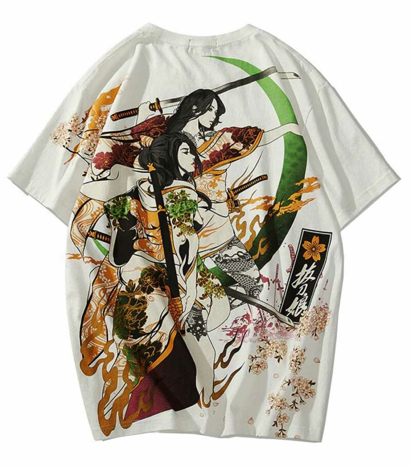 Dragon Tshirt Samurai Woman Soft