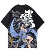 Dragon Tshirt Tattooed Woman Cotton