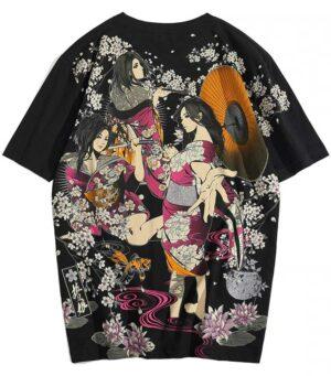 Dragon Tshirt Yakuza Woman