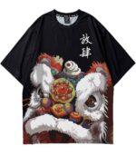 Dragon Tshirt Lunar Festival Polyester