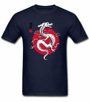 Dragon Tshirt Fuchur Red Sun
